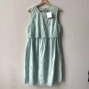 ASOS Maternity sage eyelet dress 10 NWT